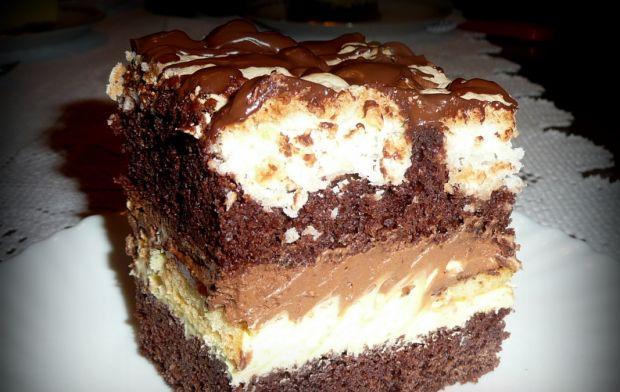 Przepis Ciasto Czekoladowo Kokosowe Z Delicjami Przepis Gotujmy Pl