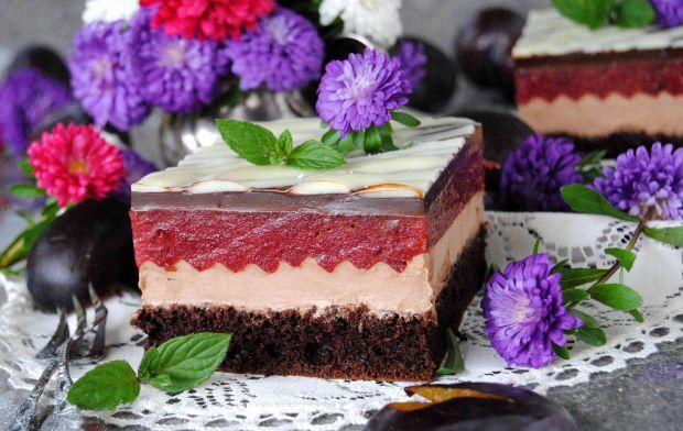 Ciasto czekoladowo- śliwkowe