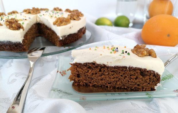 Ciasto dyniowe na mące orkiszowej z kremem