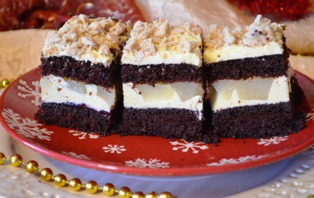 Ciasto kakaowe z masą gruszkową