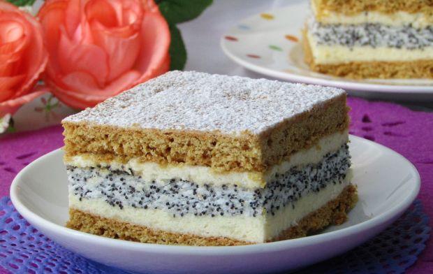 Ciasto miodowo- makowe z masą z kaszy manny