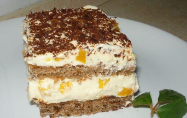 Ciasto orzechowe z masą z brzoskwiniami