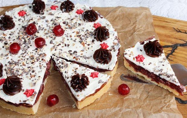 Ciasto strażackie, czyli kruche ciasto z wiśniami