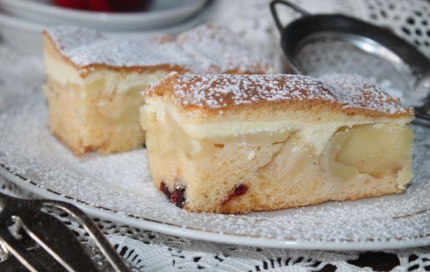 Ciasto wielosmakowe z serem i jabłkami