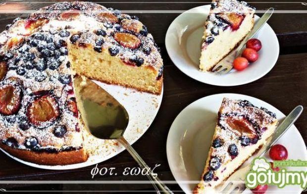 Ciasto ze śliwkami i borówką amerykańską