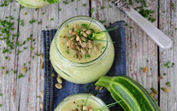 Cukiniowo- kalarepkowa zupa