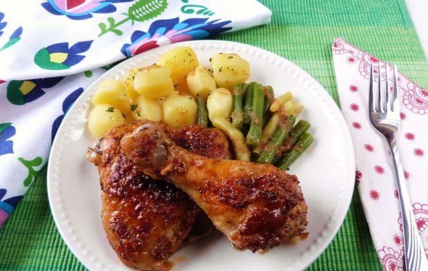 Ćwiartka z kurczaka w miodzie i musztardzie