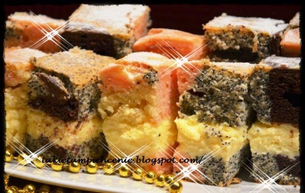 Czterosmakowe ciasto z masą serową