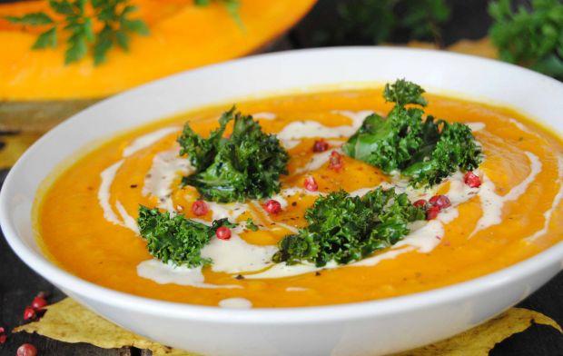 Dyniowa zupa z karotką