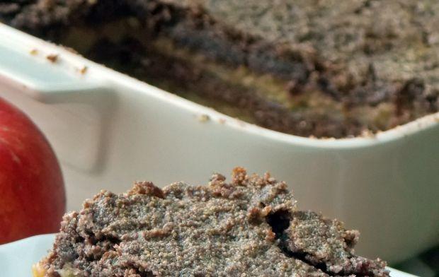 Kakaowa szarlotka sypana
