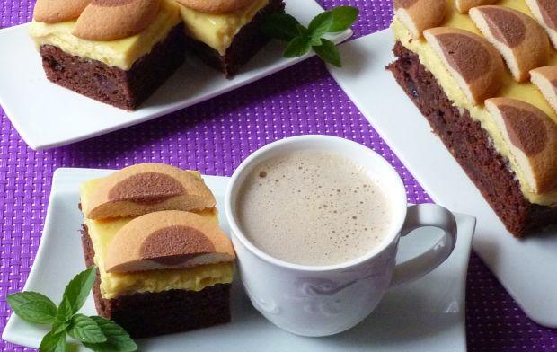 Kakaowe ciasto z kremem