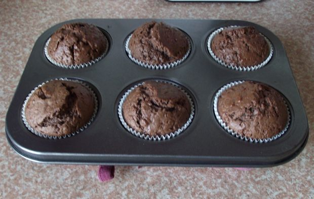 Kakaowe muffiny z nutą piernika - choinki