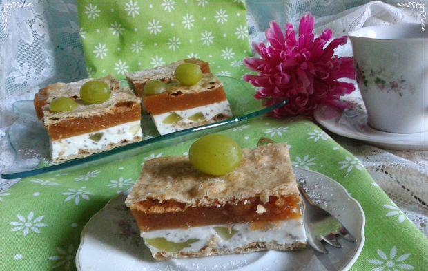 Kostka brzoskwiniowo-jogurtowa z chia