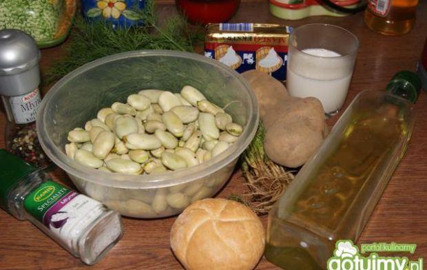 Kremowa zupa z bobu