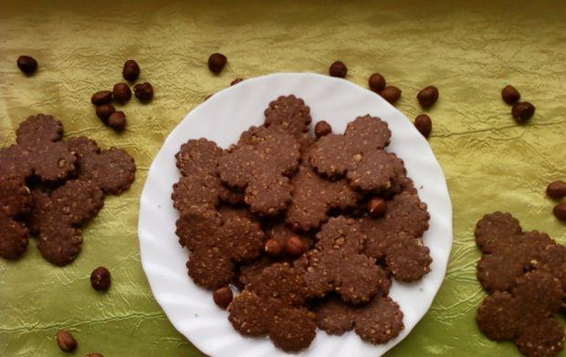 Kruche kakaowo orzechowe ciasteczka