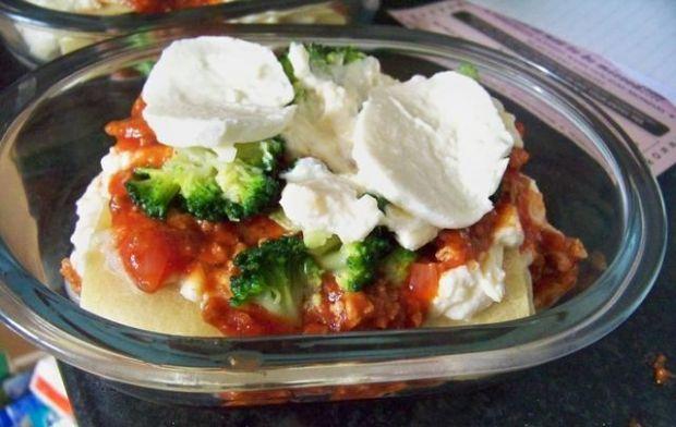 lazania - lasagne z brokułami
