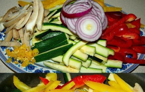 Łosoś z warzywami 2