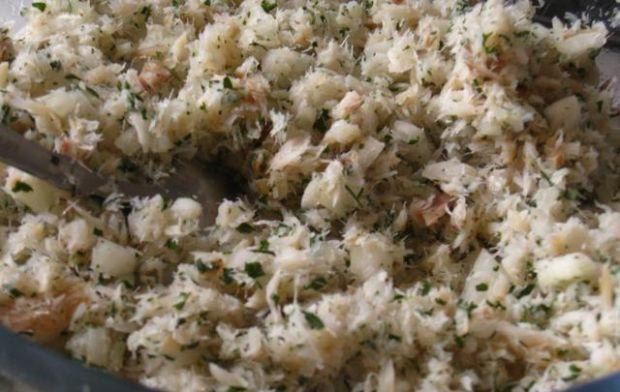 Małe kulki rybno-ziemniaczane