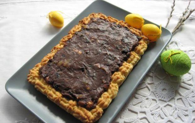Mazurek kajmakowo-czekoladowy z bakaliam