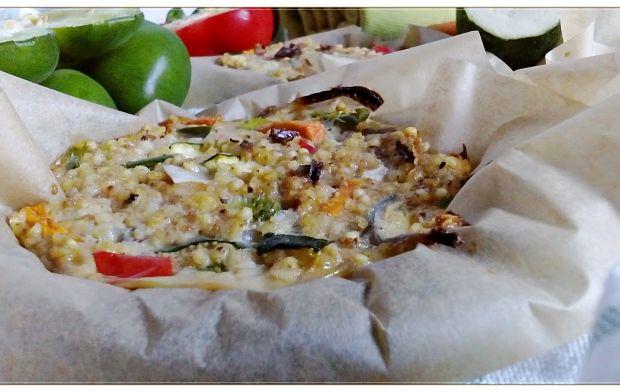 Mini frittaty jaglane z warzywami