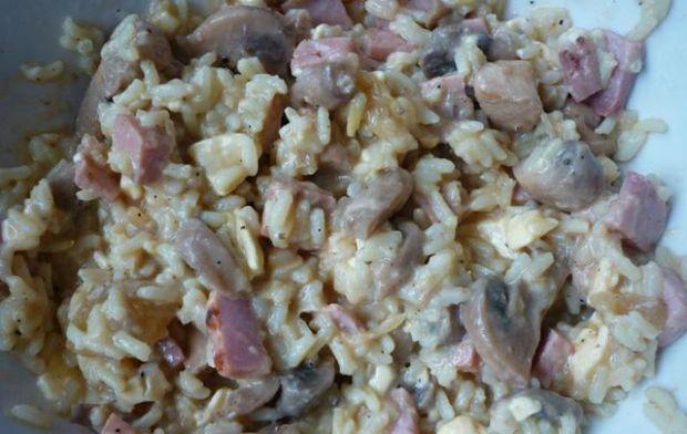 Patisony nadziewane ryżem i pieczarkami.