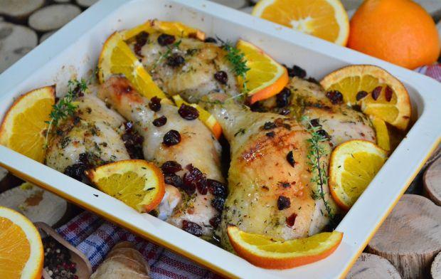 Pieczone udka kurczaka w pomarańczowo – imbirowej