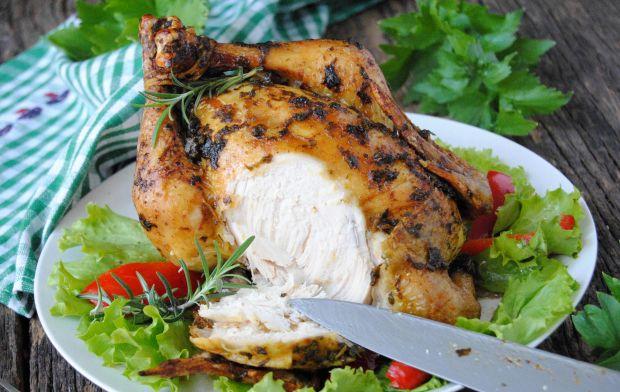 Pieczony kurczak w lubczyku