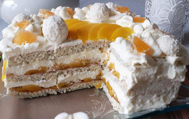 Prosty tort makowo-brzoskwiniowy