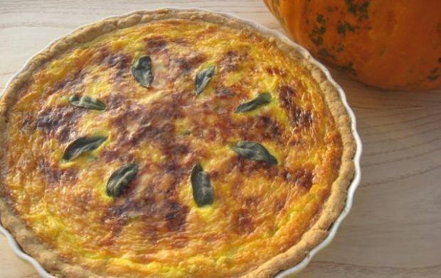 Razowa tarta z dynią i gorgonzolą
