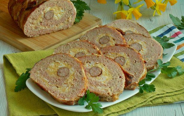 Rolada mięsna z farszem jajecznym i kabanosem