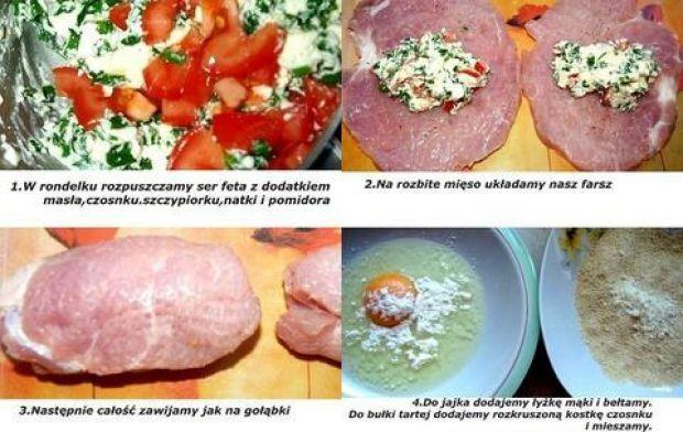 Roladki z fetą i pomidorem