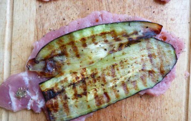 Roladki z grillowanym bakłażanem