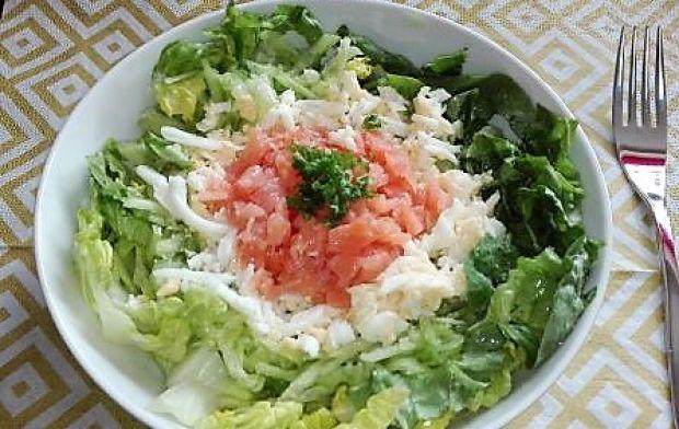 Sałatka nr 3 - Łososiowa - Dieta 1200 kalorii
