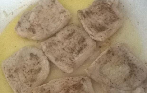 Schab w sosie cukiniowym z kuskusem perłowym