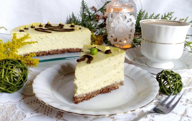 Sernik z zielonym groszkiem i miętą bez tłuszczu