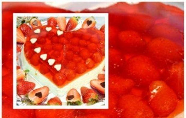 Serowo owocowe serce