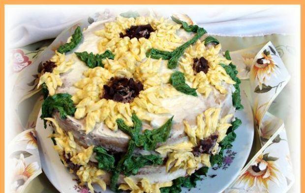 Słonecznikowy tort