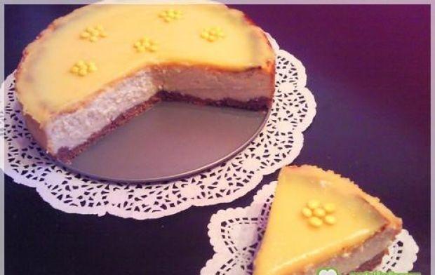 Słoneczny sernik z lemon curd