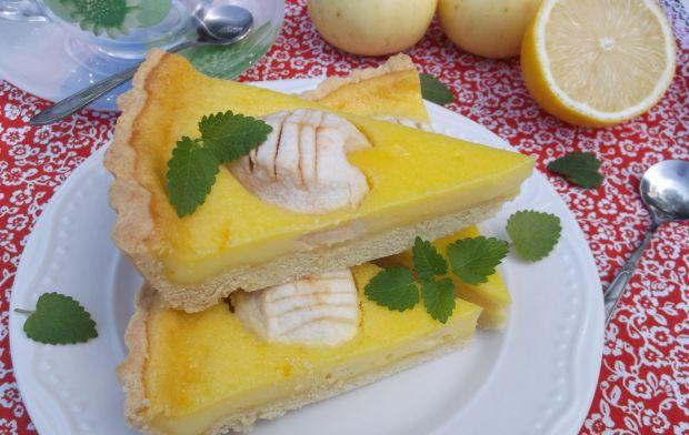 Śmietankowo - waniliowa tarta z jabłkami