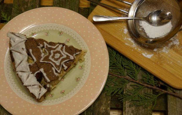 Świąteczna szarlotka z czekoladową kratką