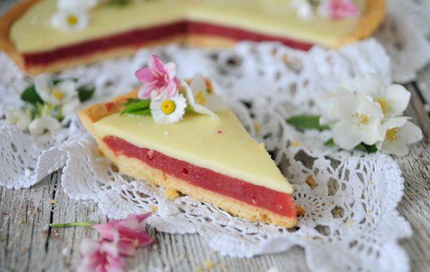 Tarta rabarbarowo- czekoladowa