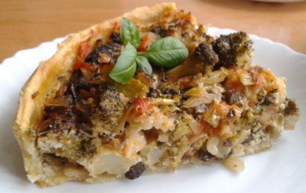 Tarta warzywno - grzybowa