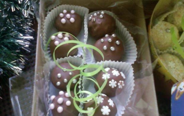 Trufle czekoladowo piernikowe