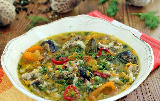 Zupa flaczki z kani