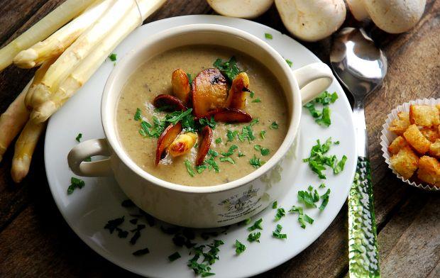 Zupa - krem szparagowo- pieczarkowy