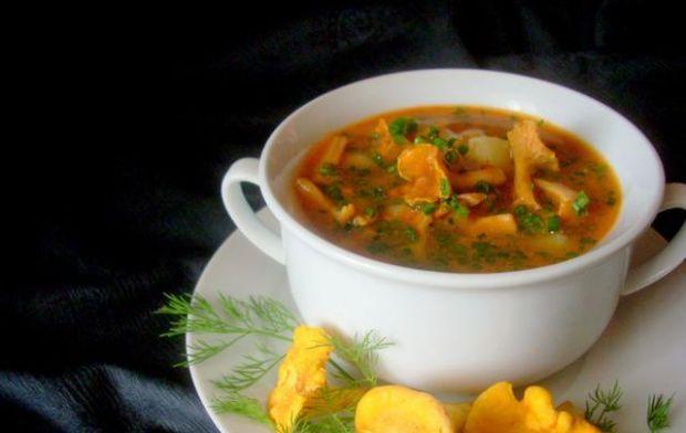 Zupa marchwiowa z kurkami